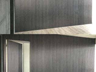 HIDDEN DOOR WITH FLUTED PANEL
