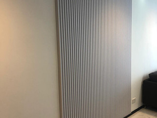 white fluted panel