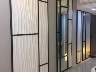 white texture wall panel