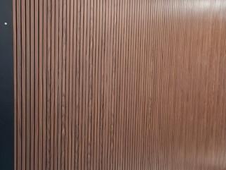 walnut fluted panel