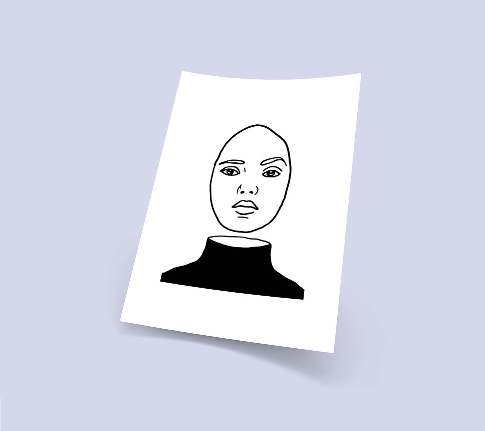 woman face portrait illustration