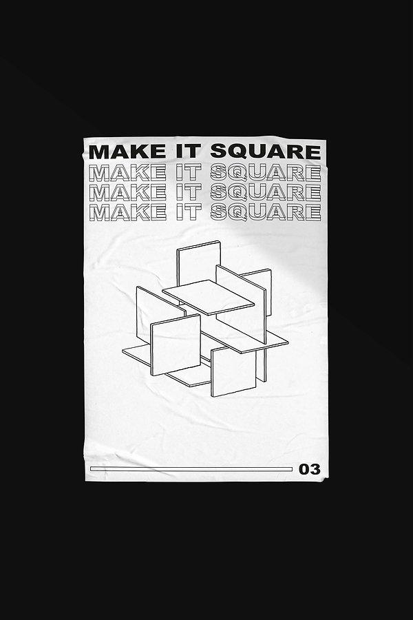 Poster geo-graphics make it square