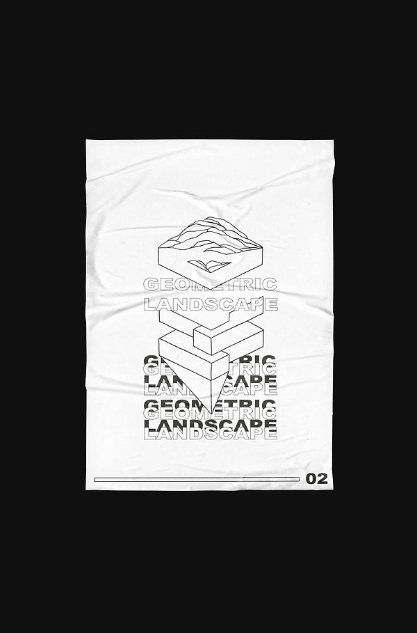 Poster geo-graphics geometric landscape