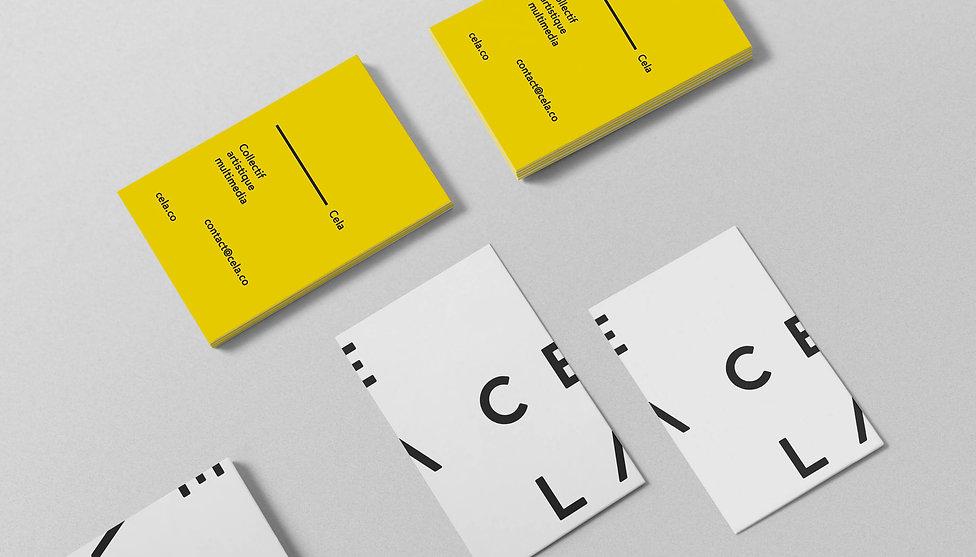Cela Collective name card design