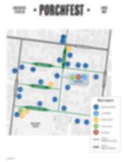 San Rafael PorchFest 2019 Map