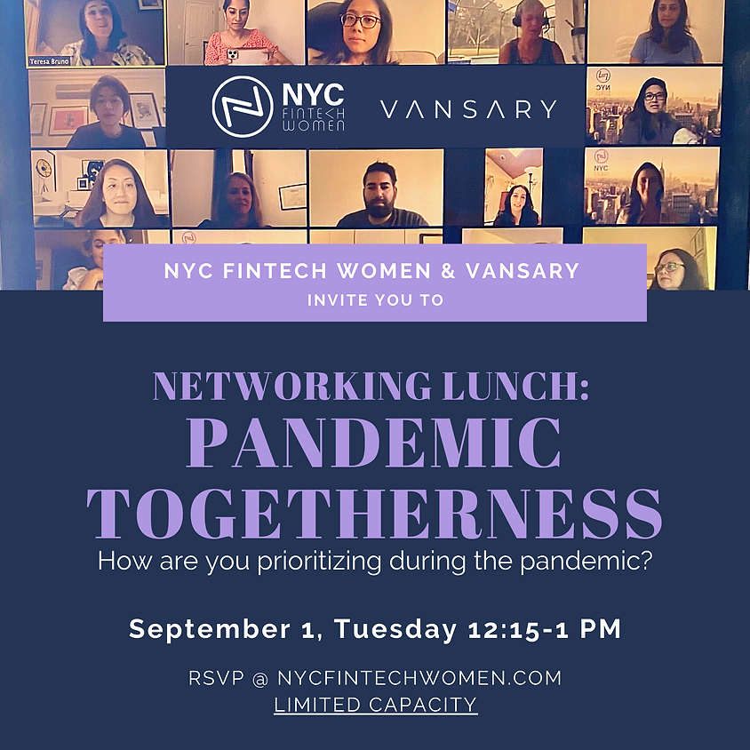 Virtual Networking Lunch - Pandemic Togetherness