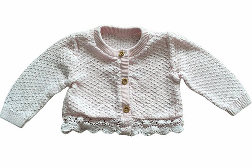 George 0-3 months Baby Pink Lace Cardigan