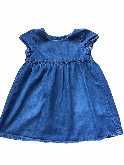 Next 12-18 months Denim Dress (Slight Fabric Flaw - see 2nd photo)