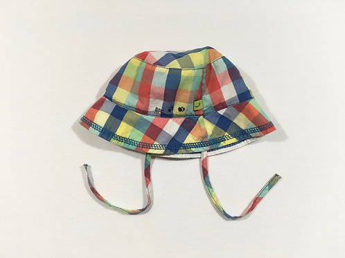 Babyface 6-18 months Check Sun Hat with Ties