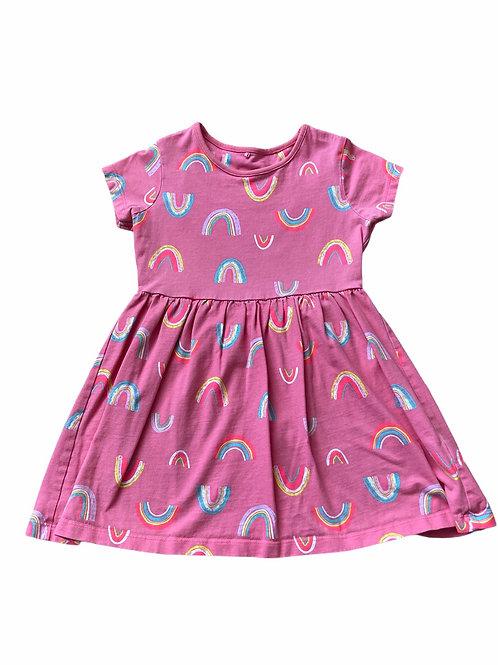 George 4-5 years Pink Rainbow Dress