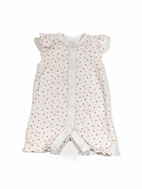 F&F Up to 1 month Floral Short Leg Romper