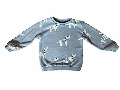 M&S 18-24 months Pale Sage Green Zebra Sweatshirt