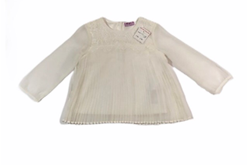 F&F 6-9 months Sheer Lace and Sequin embellished Long Sleeve Top - BRAND NEW