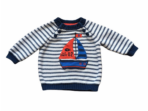 TU Up to 3 months Striped Boat Jumper