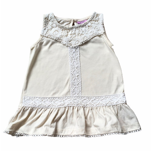 F&F 12-18 months Cream Lace Tunic Top