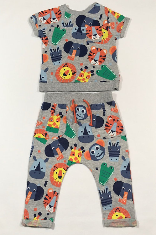 Boots Mini Club 6-9 months Jungle Animal T-shirt and Joggers