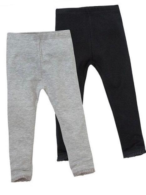 Mini Kidz 3-4 years 2 pack of Leggings Grey/Black - BRAND NEW
