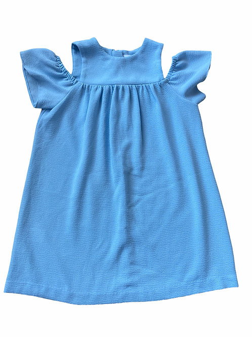 Next 3 years Baby Blue Cold Shoulder Dress