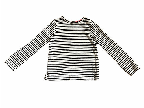 George 4-5 years White, Black and Silver Striped Top (Tiny Mark - See 2nd photo)