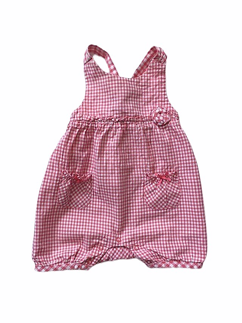 Matalan 3-6 months Red and White Checked Romper