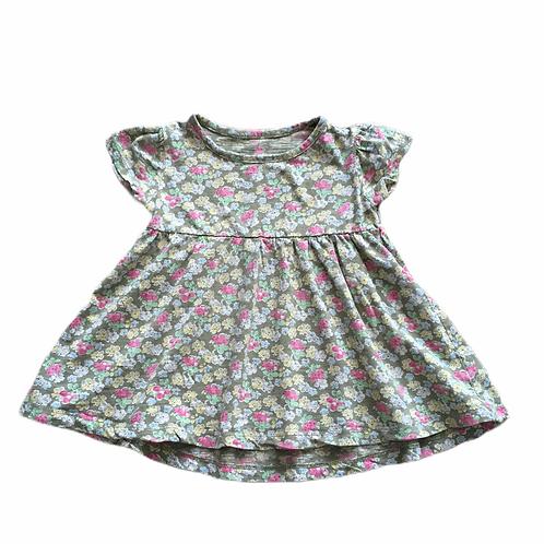 Next 12-18 months Khaki Floral Short Sleeve Tunic Top