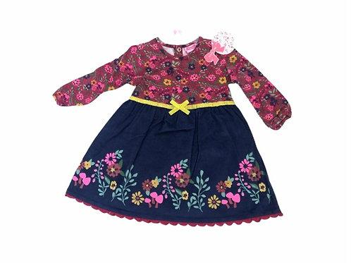 Mini Moi 18-24 months Long Sleeve Floral Dress - BRAND NEW (Slight fabric flaw)