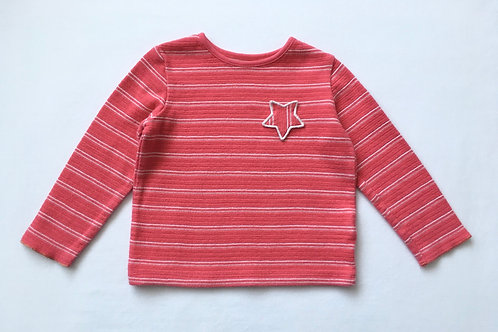 M&S 2-3 years Striped Star Jumper