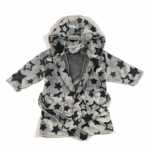 Next 9-12 months Grey Star Hooded Dressing Gown