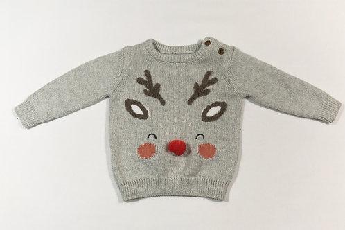 M&S 3-6 months Reindeer Christmas Jumper
