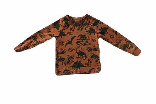 TU 4-5 years Brown Dinosaur Long Sleeve Top