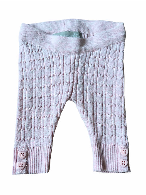 Primark 0-3 months Baby Pink Cable Knit Leggings