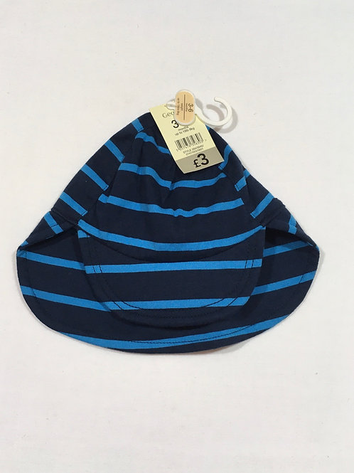 George 3-6 months Blue Striped Sun Hat - BRAND NEW
