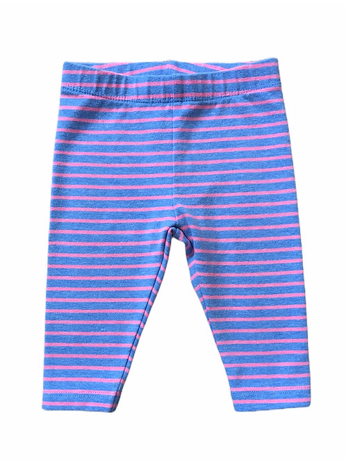 Next 0-3 months Blue and Pink Striped Leggings