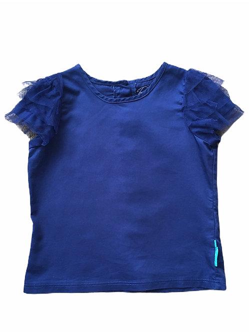 Baby K by Myleene Klass 18-24 months Navy Ruffle Sleeve Top