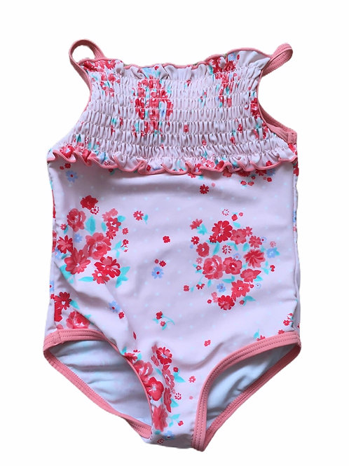 George 9-12 months Pink Floral Swimming Costume