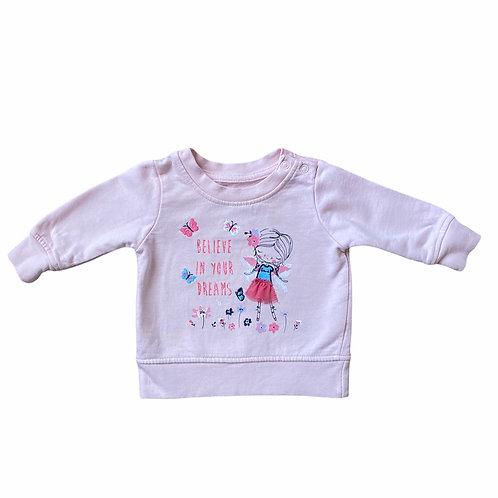 Primark 0-3 months Pink Sweatshirt