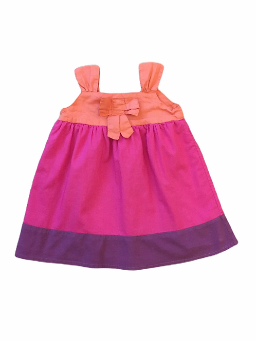 George 3-6 months Orange, Pink and Purple Dress