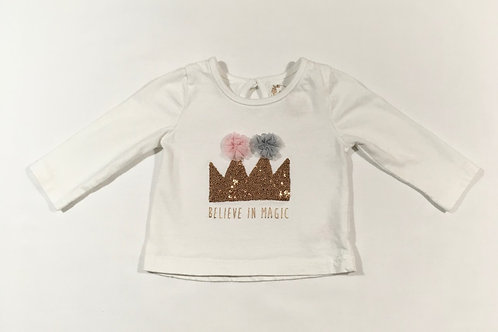 Primark 3-6 months 'Believe In Magic' Long Sleeve Top