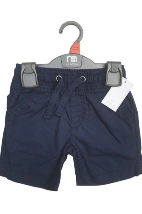 Mothercare 3-6 months Navy 100% Cotton Shorts - BRAND NEW