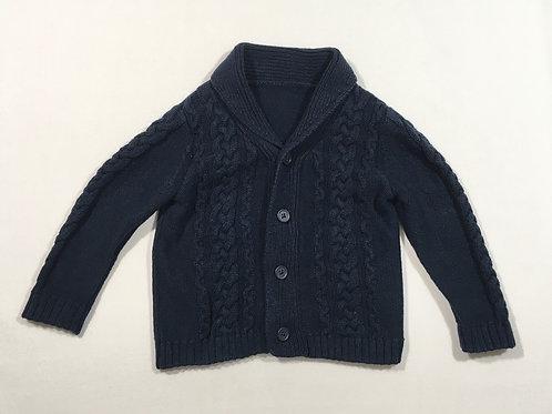 Matalan 3-6 months Navy Chunky Knit Cardigan