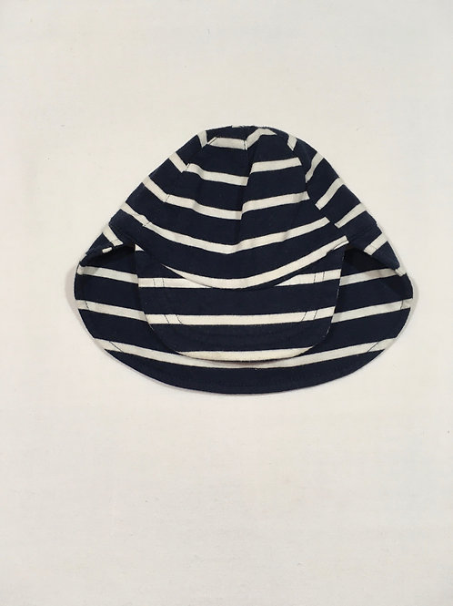 George 0-3 months Navy and White Striped Sun Hat