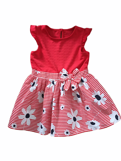Nutmeg 18-24 months Red Sleeveless Floral Dress