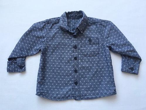Matalan 12-18 months Blue and White Long Sleeve Shirt