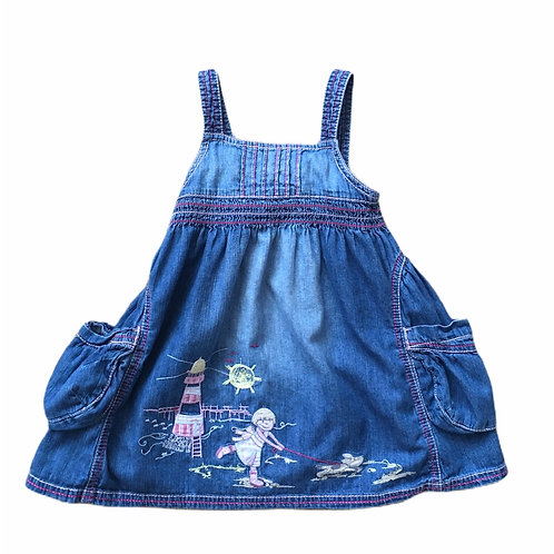 Next 12-18 months Denim Embroidered Dress