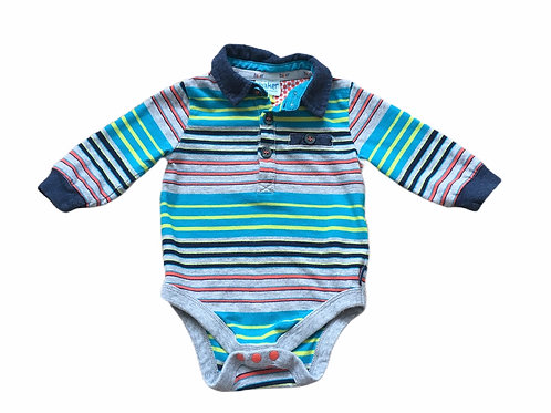 Ted Baker 0-3 months Striped Long Sleeve Bodysuit