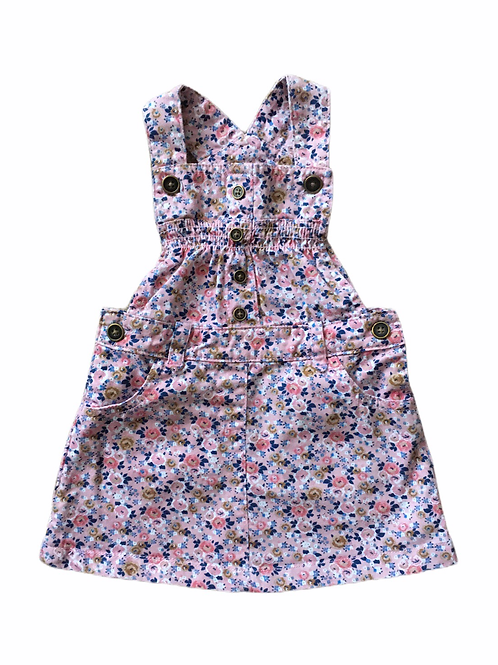 TU 9-12 months Floral Pinafore Dress