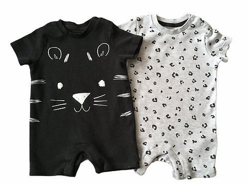 F&F 3-6 months 2 x Animal Rompers