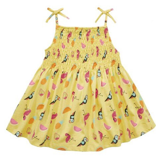 Mini Kidz 5-6 years Yellow Tropical Dress - BRAND NEW
