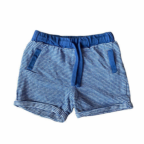 F&F 12-18 months Blue and White 100% Cotton Striped Shorts