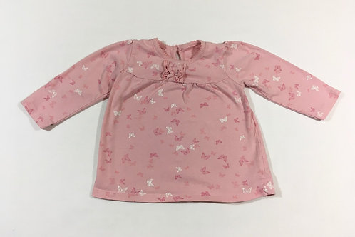 George 9-12 months Pink Butterfly Long Sleeve Top